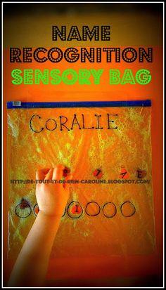 Name recognition sensory bag