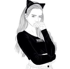 girl with cat ears