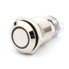 A24 Niebieskie Światło Gorący Samochodów Auto Metal Push Button Przełącznik Zatrzaskowy Typu LED Zasilania On-off 12 V 16mm 3A/250VAC