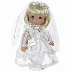 Values of Precious Moments Dolls | Precious Moments First Communion Doll - Blonde