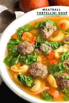 Homemade Tortellini, Spinach Tortellini Soup, Tortellini Recipes, Spinach Soup, Soup Recipes, Cooking Recipes, Dinner Recipes, Amish Recipes, Baby Spinach