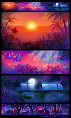 Backgrounds of commercial animation copyright © 2013-2014 NEXON, studio shelter