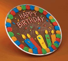 Giant Cookie Cake Birthday Decorating Cakes Frosting Cookies Pizza Big Pops