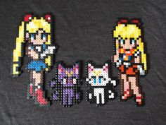 Sailor Moon and Sailor Venus perler beads by anyeshouse on deviantart