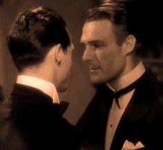 "Cary Grant meets Randolph Scott in 1932's ""HOT SATURDAY""."