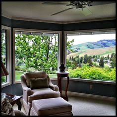 Reading nook in the master bedroom of this #Blackhawk beauty. I'm not sure I would get much reading done, though, with a view like that! #EastBay #Danville #luxury #RealEstate #SPARRproperties