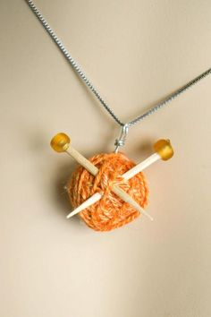 This little pendant by CreateForLess is such a sweet project for using up your scrap yarn!