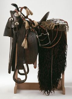 A Treasure from Our West from the Buffalo Bill Museum at the Buffalo Bill Center of the West in Cody, Wyoming. Western Saddle Pads, Western Horse Tack, Western Saddles, Horse Saddles, Show Jumping Horses, Cowboy Gear, Horse Training Tips, Natural Horsemanship, Horse Gear