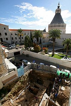 Near the Church of the Annunciation in Nazareth, Israel, a house from the time of Jesus has been unearthed. Earlier, vineyards, watchtowers and quarries have been found. Nazareth is very close to Herod Antipas' capital, Sephoris, was under construction during the boyhood of Jesus.