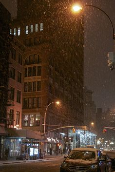 Snowing in NYC by MichelleLynsey, via Flickr