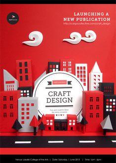 Craft design book launch poster - Craft Design