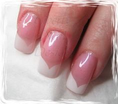 """It said, """"fancy French"""" but I know it as a chevron style manicure. French Manicure Nails, French Manicure Designs, Manicure Y Pedicure, Mani Pedi, Pretty Hands, Nail Art, Fancy, Creative, Beauty"""
