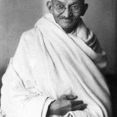 Mahatma Gandhi - Prominent figure of the Indian independence movement,  propounding the philosophy of Satyagraha (Adherence to Truth)and Ahimsa (To do no Harm)  advocating non-violence