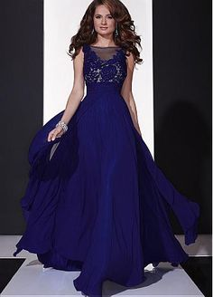 Alluring Tulle & Chiffon Bateau Neckline A-line Prom Dresses With Hot Fix Rhinestones