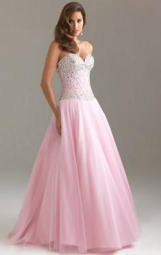 Robe de soiree rose brillante