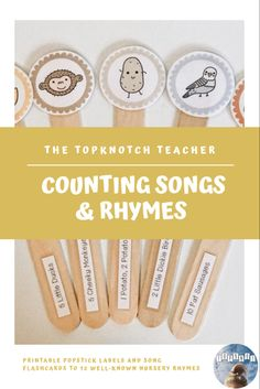 Great printable activities for toddlers, preschoolers and kindergarteners learning to count. Children can learn numbers to 10 while singing along with these well-known nursery rhymes: 5 Little Ducks, 5 Little Speckled Frogs, 5 Cheeky Monkeys, 10 Fat Sausages, One Potato, 2 Potato, Here is the Beehive, 10 Green Bottles, 12345 Once I Caught A Fish Alive, 10 in the Bed, 5 Little Bears, 5 Currant Buns, 2 Little Dickie Birds. Song cards fit perfectly into IKEA tolsby frame. Music Activities For Kids, Math Activities, Toddler Activities, 5 Little Speckled Frogs, Ikea Tolsby Frame, Counting Songs, Circle Time Songs, Learn To Count, Play Based Learning