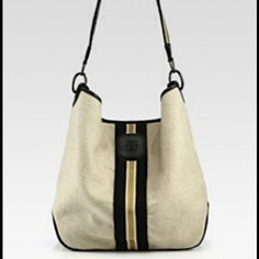 Longchamp Handbags - Longchamp Beige Bi Goa Canvas Leather Hobo Bag NWT