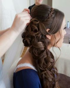 Wedding Fry Your – # Fry # Wedding – # Peinados – From Parts Unknown Wedding Hair Side, Wedding Hair And Makeup, Hair Makeup, Side Hairstyles, Pretty Hairstyles, Wedding Hairstyles, Bridal Hairstyle, Quinceanera Hairstyles, Hair Dos