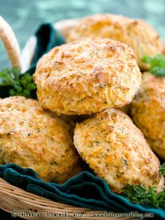 Garden Herb Cream Cheese Biscuits (v)