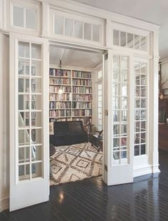 home home design home library home library room glass doors glass walls home architecture House Design, House, Interior, Home, House Styles, New Homes, House Interior, Interior Design, Home Library