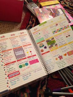Decorated Erin Condren Life Planner