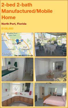 2-bed 2-bath Manufactured/Mobile Home in North Port, Florida ►$106,900 #PropertyForSale #RealEstate #Florida http://florida-magic.com/properties/2772-manufactured-mobile-home-for-sale-in-north-port-florida-with-2-bedroom-2-bathroom