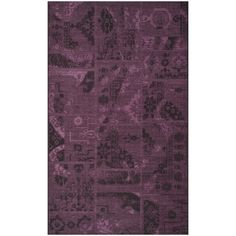 Safavieh Palazzo Black/Purple Over-Dyed Chenille Indoor Rug (4' x 6') - Overstock™ Shopping - Great Deals on Safavieh 3x5 - 4x6 Rugs