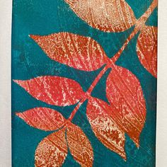 Another double mono print inspired by autumn. Have a walk in a forest and look up. Enjoy the colours and the effects of the light trying to pierce through Mono Print, Looking Up, Joy, Colours, Autumn, Inspired, Painting, Life, Inspiration