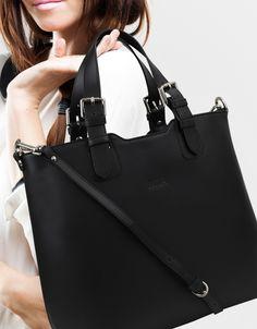 Black Leather Handbags Bags Accessories Italian Italy Bag