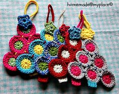 Crochet your own Christmas tree (decorations) - tutorial with photos on homemade@myplace