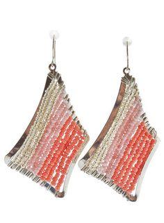 Pink Watercolor Earrings