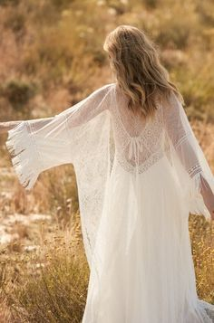 Rembo styling — 2018 Collection — Graal: Beautiful dress with higher waist and thin shoulderstraps. A very sophisticated split in the skirt. Weeding Dress, Modest Wedding Dresses, Boho Wedding Dress, Boho Dress, Rembo Styling, Modern Gypsy Fashion, Steampunk Fashion, Gothic Fashion, Style Fashion