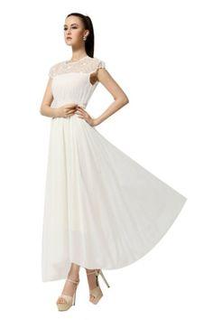 Women Fashion Vogue Chiffon Hollow Lace Chiffon Long Dress Skirt ACEFAST INC http://www.amazon.com/dp/B00KL6FPUI/ref=cm_sw_r_pi_dp_AJGStb192XKVB51B