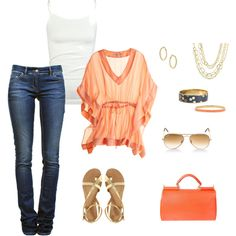 tangerine by iugirl1999 on Polyvore
