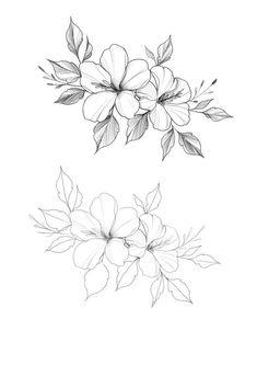 25 beautiful flowers draw ideas & inspiration – light craft – architecture and art - flower tattoos Flower Tattoo Drawings, Flower Tattoo Designs, Art Drawings, Pencil Drawings, Tattoo Floral, Tattoo Flowers, Flower Designs, Plumeria Flower Tattoos, Gladiolus Tattoo
