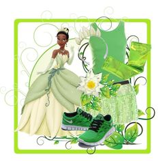 """""""Princess Tiana Running Costume"""" by according2kelly on Polyvore"""