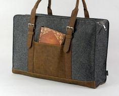 Felt Duffle Bag Gym Travel Luggage Overnite Bag by Filzkraft