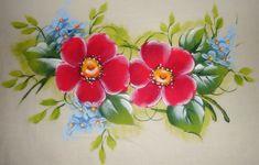 Pintura em Tecido Passo a Passo Com Fotos: Pintura em Tecido Flores