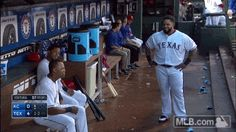 May 2015: Prince dances in the dugout