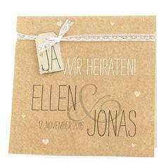 """Hochzeitseinladung """"Judy"""" - Naturpapier"""