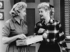 """In this undated TV image originally released by CBS, Vivian Vance, left, and Lucille Ball are shown in a scene from the comedy series, """"I Love Lucy."""""""