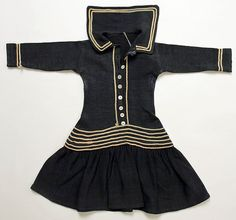 "Wool ""Sailor Suit"" Child's Dress, circa 1882 