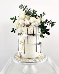 "Wedding Cake! Ended up being a very tall 8"" cake"