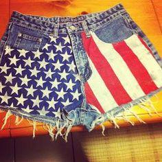 DIY Clothes Refashion: DIY American Flag Shorts! : DIY Clothes : DIY Fashion : DIY Refashion : DIY Sew : DIY Upcycle : DIY Shorts : DIY Denim