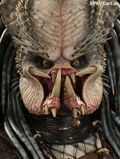 Trick or treat. Alien Vs Predator, Predator Helmet, Predator Movie, Predator Alien, Science Fiction, Scary Movies, Horror Movies, Les Aliens, Arte Alien