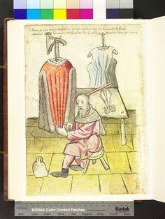 Amb. 317.2° Folio 67 verso (museum/date)  Great illustrator of the garment construction technique