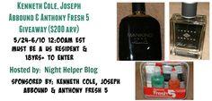 Kenneth Cole, Joseph Abbound & Anthony Fresh 5 #Giveaway ($200 arv) - http://www.nighthelper.com/kenneth-cole-joseph-abbound-anthony-fresh-5-giveaway-200-arv/