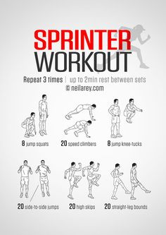 Sprinter Workout Infographic
