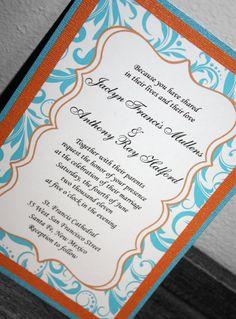 Simply Chic Wedding Inspiration Orange Turquoise