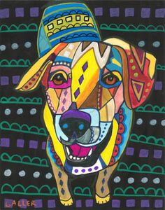 8x10  Yellow Lab Art Labrador Retriever Art by HeatherGallerArt, $24.99